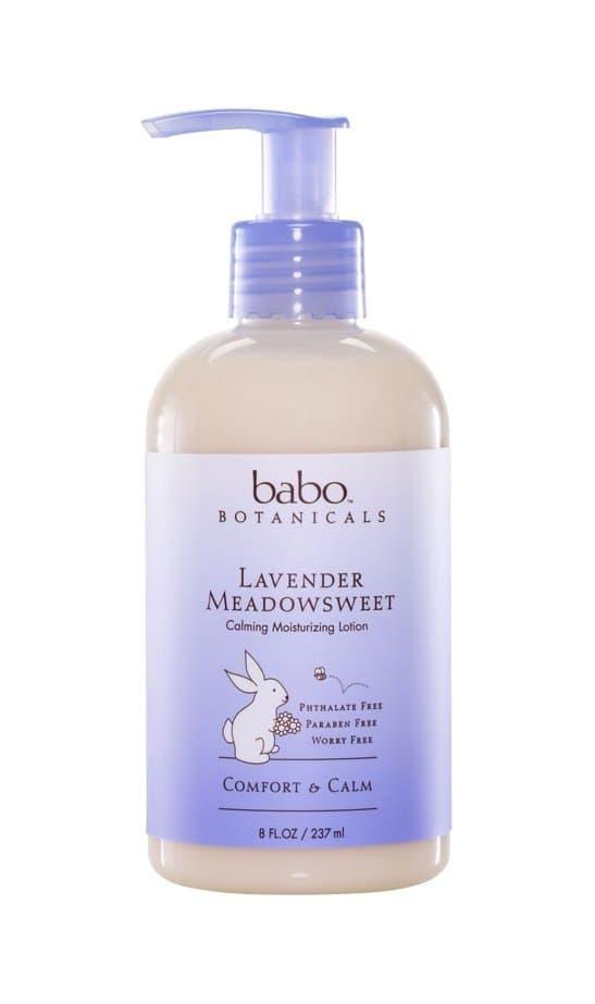 Babo Botanicals Lavender Meadowsweet Calming Moisturizing Lotion