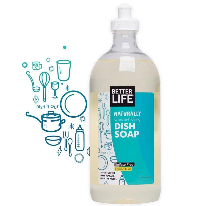 Better Life Dish Soap Lemon Mint from Gimme the Good Stuff
