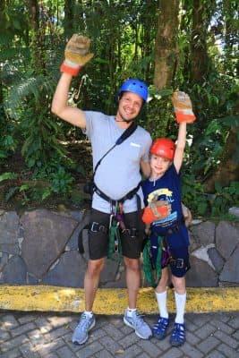 Costa Rica Selvatura Felix and daylon ziplining