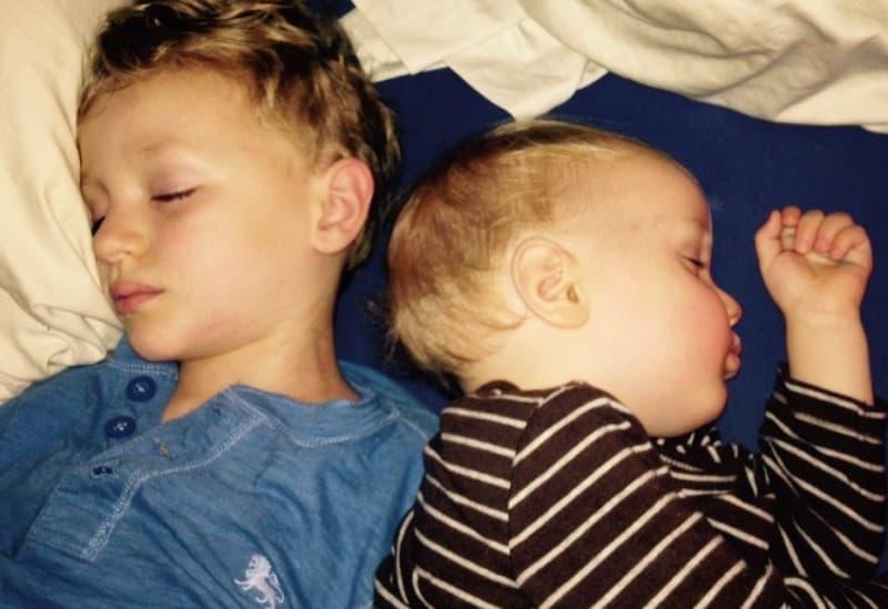 Felix and Wolfie sleeping