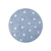 Lorena Canals Round Rug Stars Blue