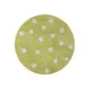 Lorena Canals Round Rug Stars Pistachio