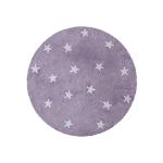 Lorena Canals Round Rug Stars Purple