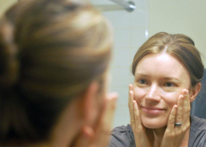 Maia Putting Cream on Face-Gimme the Good Stuff