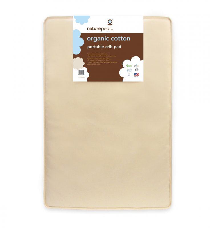 Naturepedic Organic Cotton Portable Crib Pad from Gimme the Good Stuff