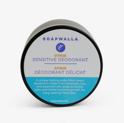 Soapwalla Sensitive Deodorant Cream CItrus from Gimme the Good Stuff