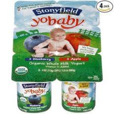 Stonyfield YoBaby flavored yogurts