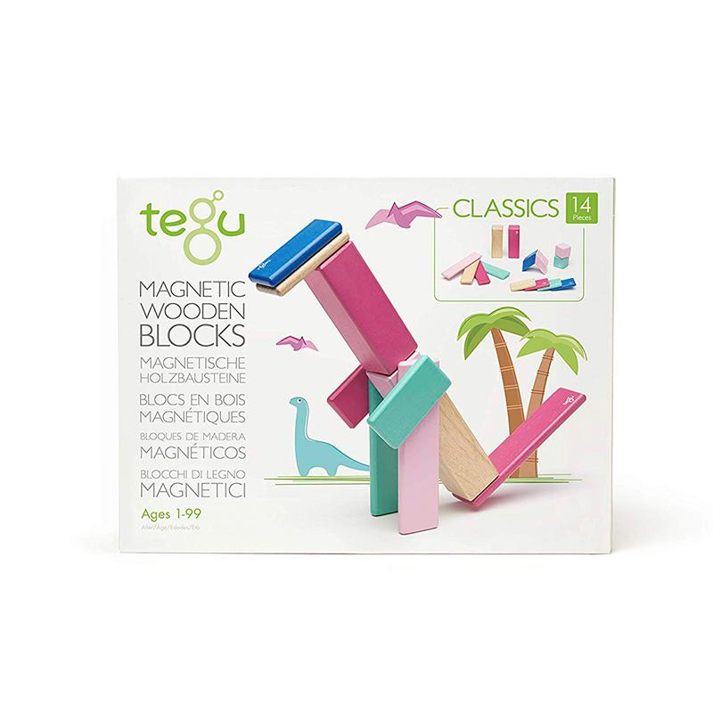 Tegu Classics Magnetic Wooden Blocks 14-Piece Set gimme the good stuff