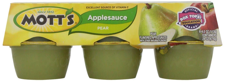 motts pear applesauce
