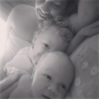my boys in bed in VT July 2013